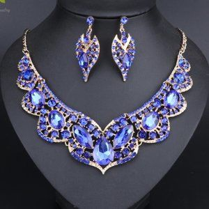 NS28 | Blue Evening Glam Jewelry Prom Wedding Set